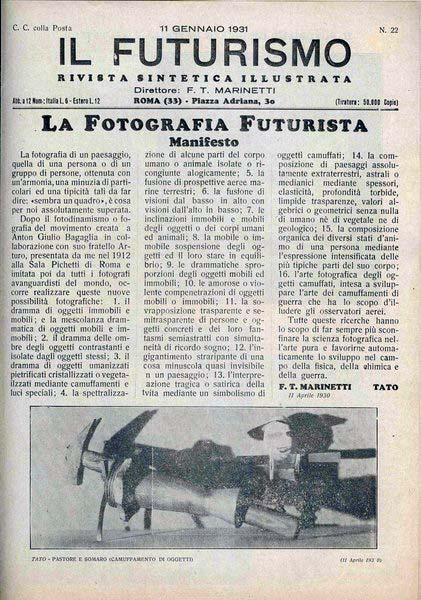 La fotografia futurista