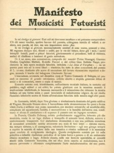 Il Manifesto dei Musicisti Futuristi