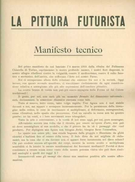 Manifesto tecnico della pittura futurista