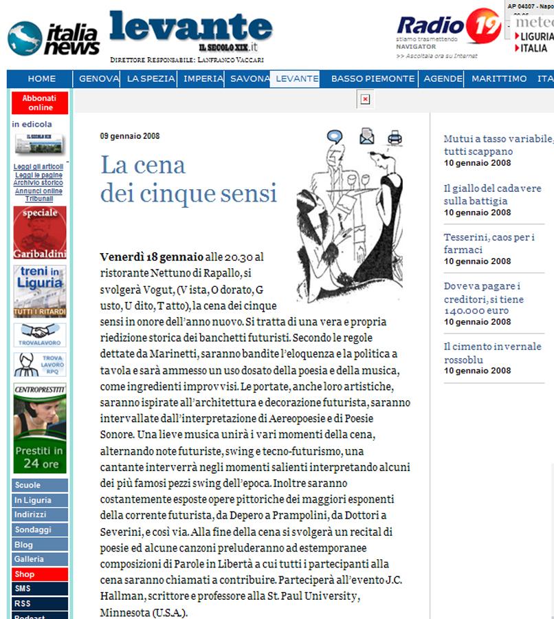 Il Secolo XIX Web del 09-01-08