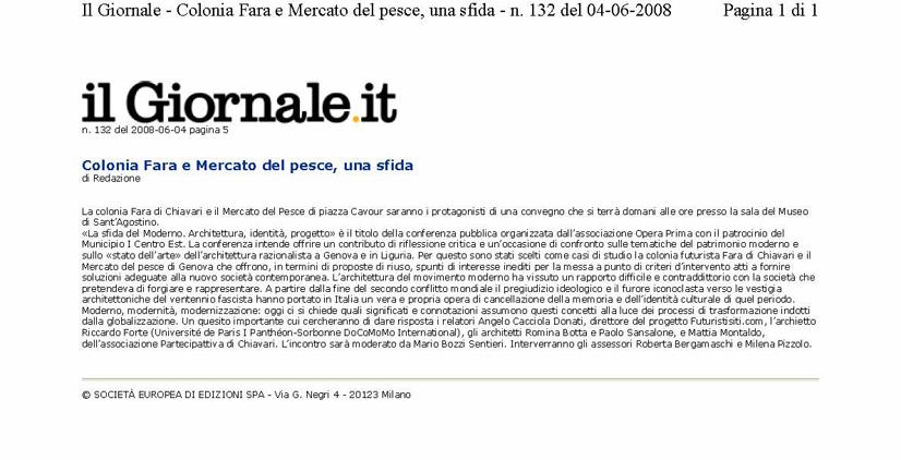 Il Giornale del 04-06-08
