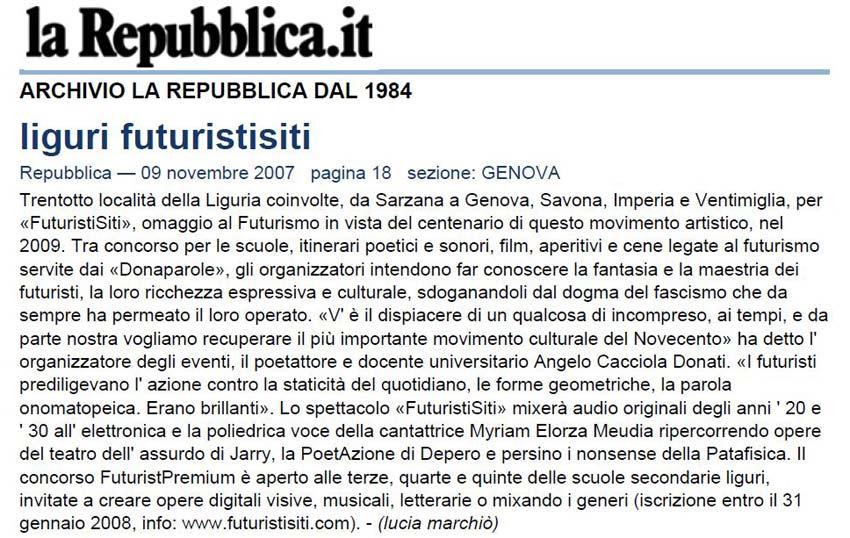 La Repubblica del 9-11-07